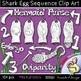 Shark Egg Sequence Clip Art {PaezArtDesign}
