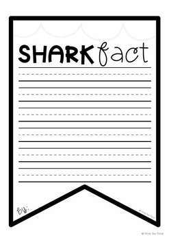 Shark Facts Banner {Bunting, Garland, Pennant Display}
