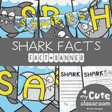 Shark Facts Banner {Bunting, Garland, Pennant Display}