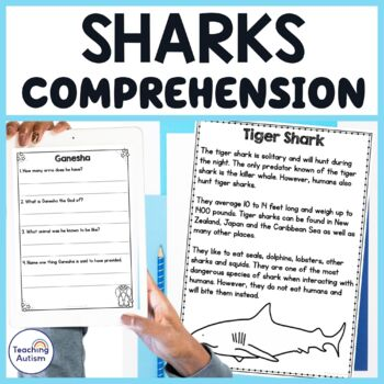 Shark Facts Reading Comprehension Passages and Questions