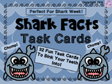 Shark Facts Task Cards (Shark Week)