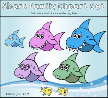 Shark Family Clipart Set #AugTpTClipLove