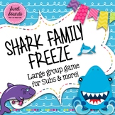 Shark Family Freeze Game - Smart Board Game and Printables