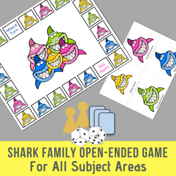 Shark Family Open Ended Game For All Subject Areas