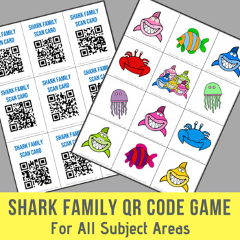 Shark Family QR Code Game For All Subject Areas