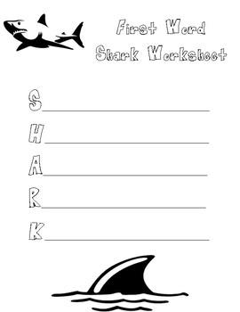Shark--First Word Activity