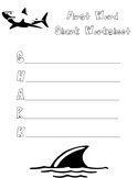Shark--First Word Activity
