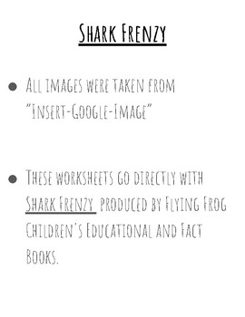 Shark Frenzy: Reading Comprehension Activity