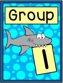 Shark Group Signs - Table Group Signs