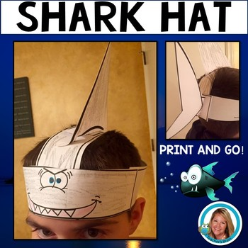 Shark Hat Headband for Ocean Plays or Celebrations by Teacher's Brain