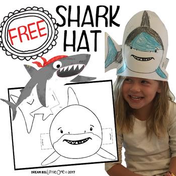 Shark Hat / Mask for Preschool Or Kindergarten Ocean Activities