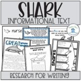 Shark Week Research and Informational Writing Printables