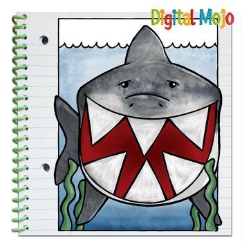 Shark Interactive Notebook Editable Flaps Template