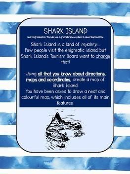 Shark Island - Mapping Direction Location Coordinates Transformation