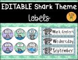 Shark Labels EDITABLE