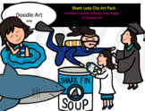 Shark Lady Clip Art Pack
