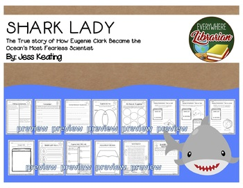 Shark Lady Eugenie Clark by Jess Keating 14 Book Extension Activities NO PREP