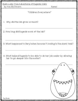 Shark Lady: True Adventures of Eugenie Clark -- Book Study {Level O}