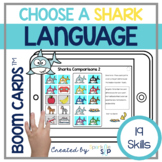 Shark Language Boom Cards™️ for Speech Therapy | Sharks an