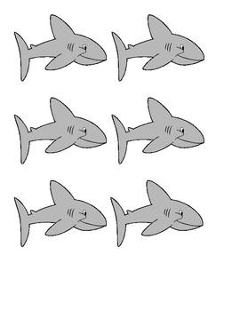 Shark Themed Alphabet Letter Cards