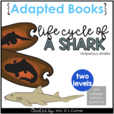 Shark Life Cycle Adapted Book [ Level 1 and 2 ] | Life Cycle of a Shark Book