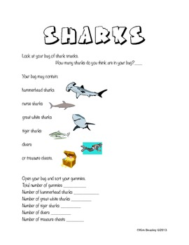 Shark Math Activity