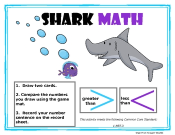 Shark Math (Greater Than, Less Than)