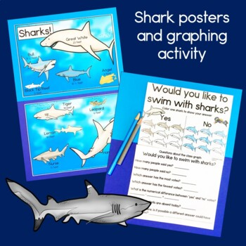 Shark Math for First Grade (measurement, graphing, addition & subtraction)