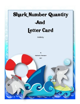 Shark Number Quantity and Letter Cards Activity