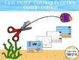 Shark / Ocean Themed Fine-Motor Practice for Cutting / Tracing