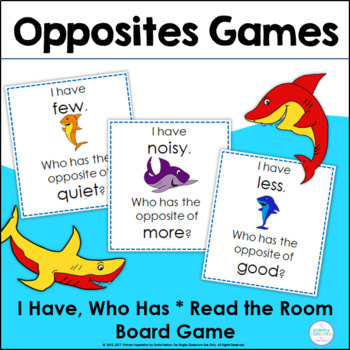 Opposites Games ~ Shark Antonyms