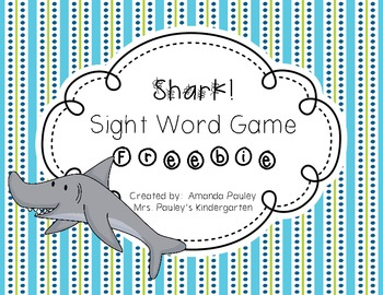 Shark Sight Word Game {Freebie}