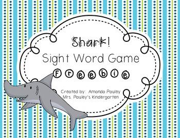 Shark Sight Word Game {Freebie}