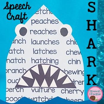 Shark Speech Therapy Craft {articulation craftivity}