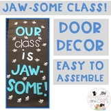 Editable Shark Summer Classroom Door Decor - Our Class is