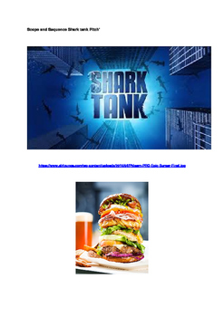 Shark Tank Burger Pitch and Sustainable Package scope and sequence