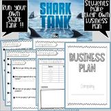 Shark Tank Business Plan Activity