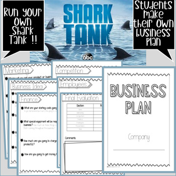 Shark Tank Business Plan Activity
