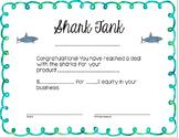 Shark Tank Certificate