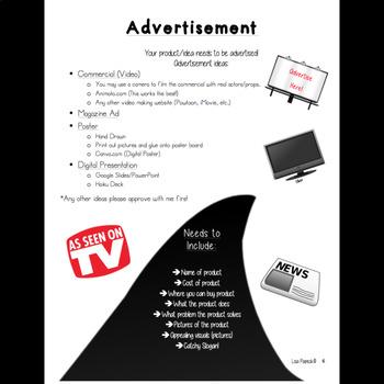 Shark Tank Interactive Opinion Writing Project!