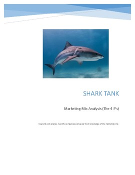 Shark Tank Marketing Mix Analysis
