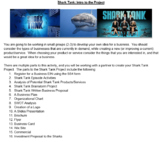Shark Tank Multimedia Marketing/Business Entrepreneurship Project PBL