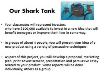 shark tank persuasive project complete unit rubrics tpt shark tank persuasive project complete unit rubrics