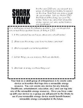 Shark Tank Renewable Energy Group Project