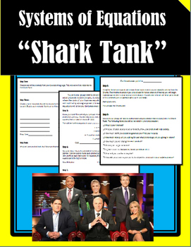 Shark Tank - Systems of Equations **End of Year Activity**