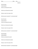 Shark Tank TV Show Questions Handout Business (for any episode)