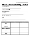Shark Tank Viewing Guide (Percents Activity)