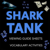 Shark Tank Worksheets: Viewing Guides and Vocabulary Activ