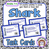 Sharks Task Cards: 24 cards with fun facts and related act