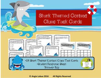 Shark Task Cards {Context Clues}